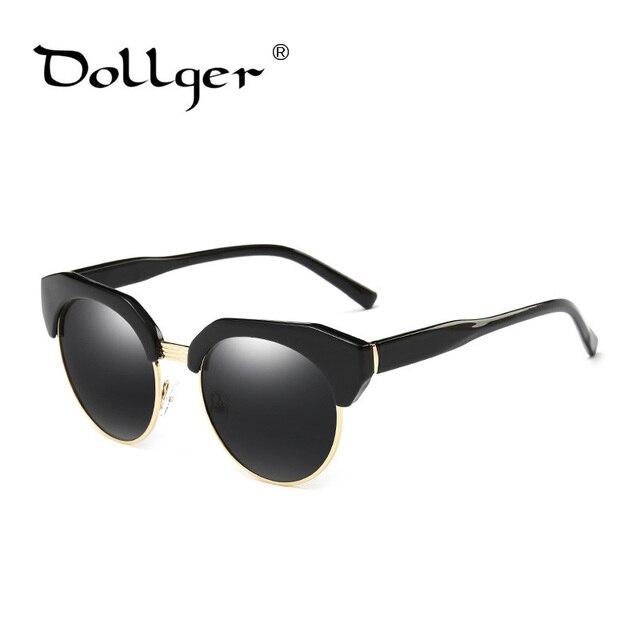 35bf50851534f4 Dollger mode vintage cat eye lunettes de soleil noir de luxe lunettes de  soleil polarisées femmes