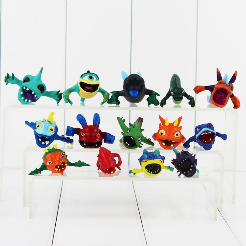14Pcs/Lot Hot Selling <font><b>Cute</b></font> Slugterra Slager Elf <font><b>Mini</b></font> PVC <font><b>Action</b></font> <font><b>Figures</b></font> Toys Collectible Gifts for Kids