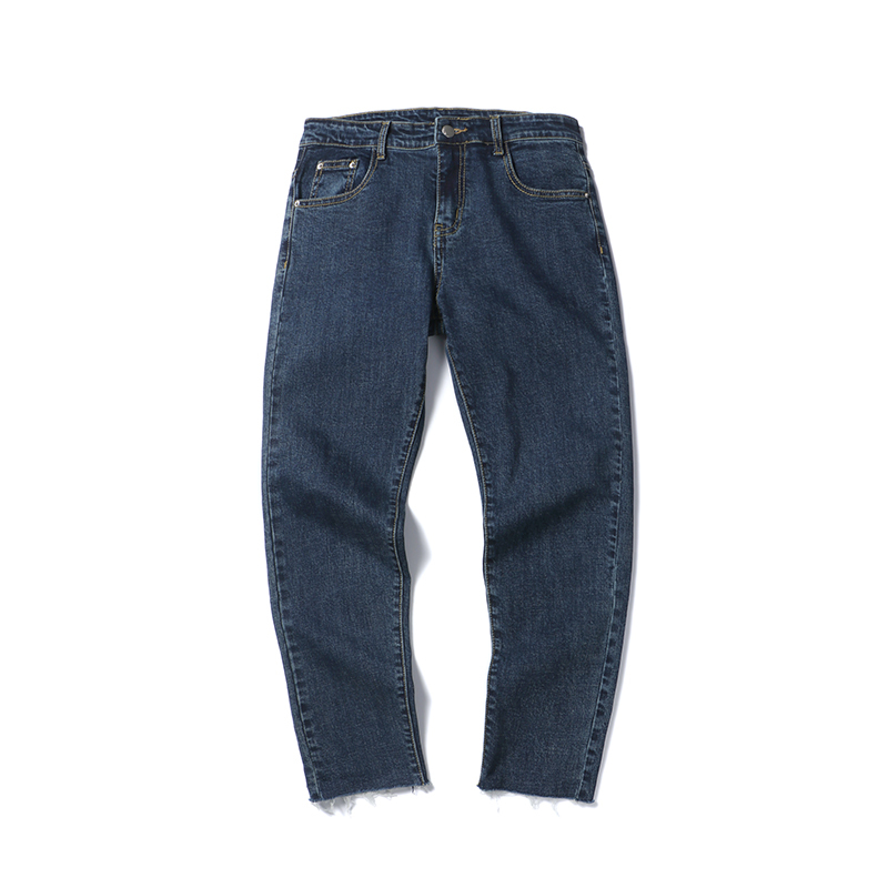 Mens spring and summer new men thin jeans nine feet pants casual hair fringed cultivate ones morality