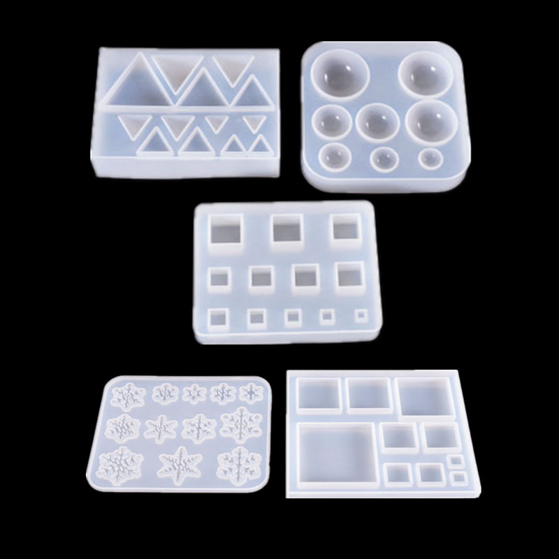 1PC Snowflake Shaped Silicone UV Resin Jewelry Molds Epoxy Resin Jewelry Accessories Dried Flower Jewelry Tools