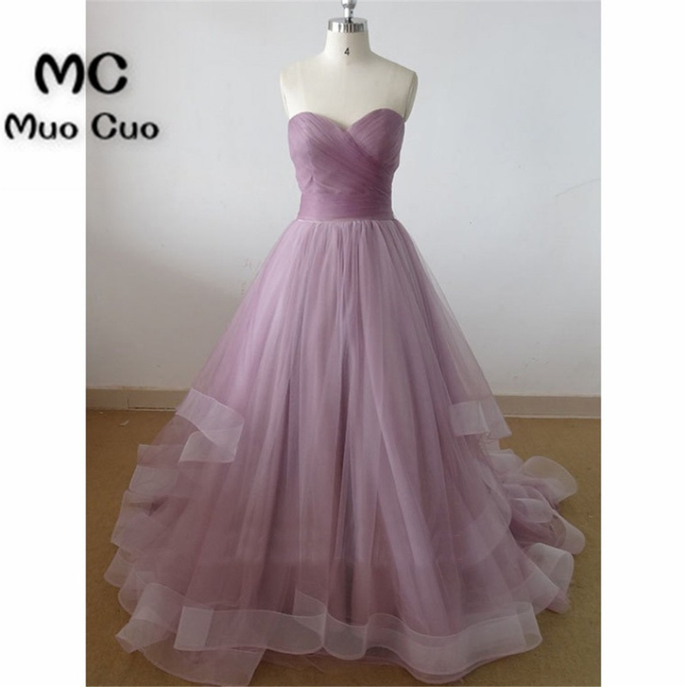 New 2018 Ruffles Prom Dresses Long Sweetheart Pleat Lace Up Back Ball Gowns Formal Women's Evening Dresses Mother Dress