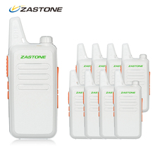 8pcs Zastone ZT-X6 Radio Communicator HF Transceiver UHF 400-470 MHz 16 Channels White Color Portable Walkie Talkie