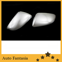 R line style silver matt chrome side mirror cap replacement for Volkswagen touran mk2 Free Shipping