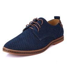 2016 Nuevos Hombres Del Verano Más Tamaño Genuino De Cuero Zapatos Casuales Los Hombres del Ante de la Manera Sandalias Respirables Para Los Hombres 45,46, 47,48