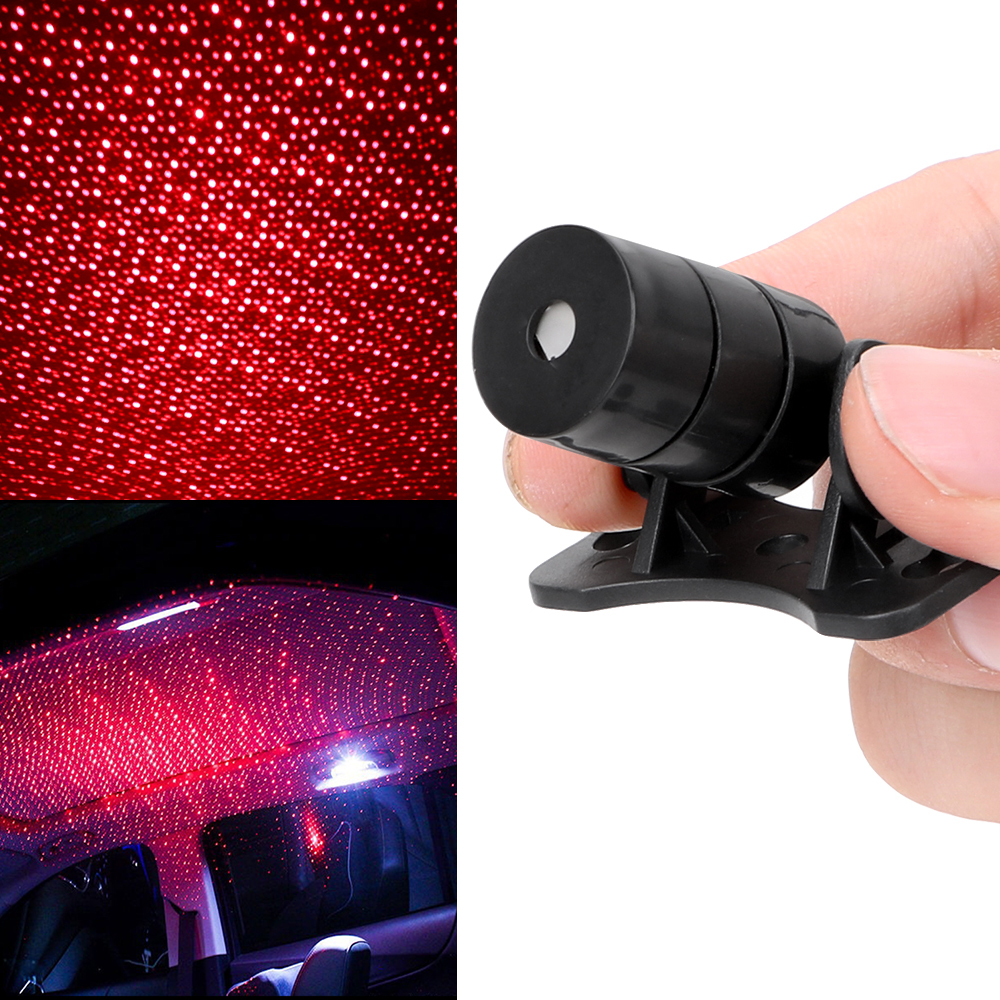 DJ Music Sound Lamp Interior Modification Spotlight Car Star Lights Interior Decorative Light Car Roof Light Starry Projection