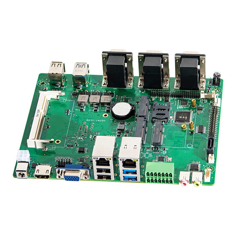 Công nghiệp MÁY TÍNH Quạt Không Cánh Mini Máy Tính Intel i7 4500U i5 4200U 2 * Intel Các Mạng LAN 6 * RS232/485 GPIO LPT HDMI VGA 8 * USB Wifi 3G/4G