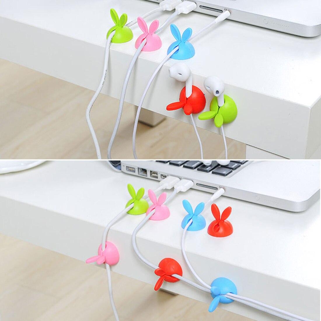 Plastic Headphone Winder Cable Organizer Computer Bobbin Wire Holder Desktop US