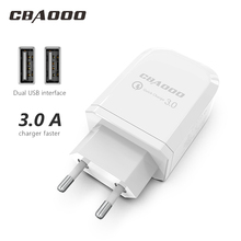 CBAOOO USB Charger 2-Port USB Wall Charger EU Plug Mobile Phone USB Charger Fast Charging Wall Charger For iPhone 6 Samsung cheap A C Source 100-240V 1 2A ROHS Travel EU Charger Adapter Charger Plug Mobile Phone Charger USB Charger USB Adapter Phone Charger Tablet charger