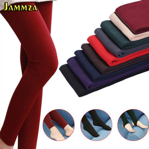 New Winter Keep Warm Thicken Wool Pantyhose for Women High Quality Elasticity Velvet Fashion Solid Nine Points Women's Tights
