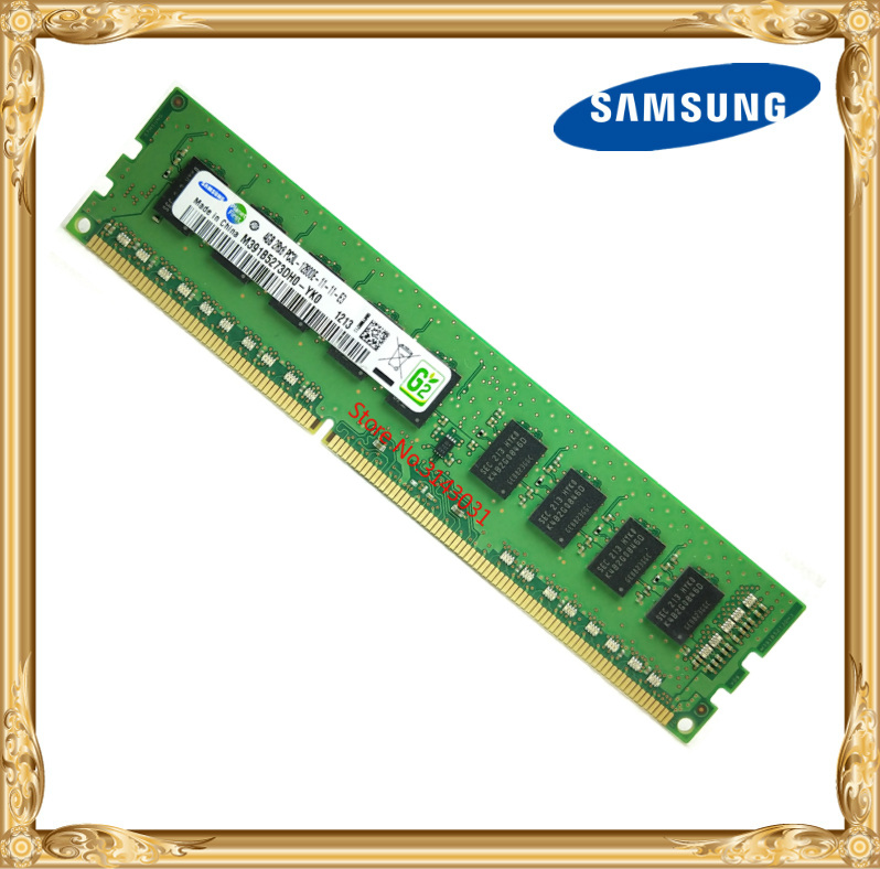 Samsung DDR3 4GB server memory 1600MHz Pure ECC UDIMM 2RX8 PC3L-12800E workstation RAM 12800 Unbuffered цена