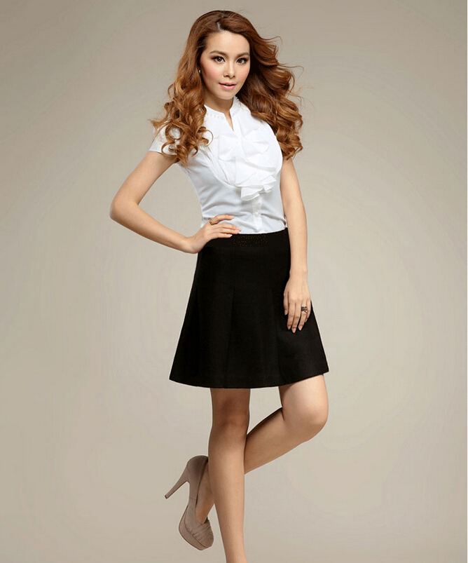 42fbc976af Women Woolen Skirt Fashion Work Wear Mini Skirts Plus Size Casual A Line  Skirt Black , Grey , Wine red Above Knee Skirt -in Skirts from Women's  Clothing on ...
