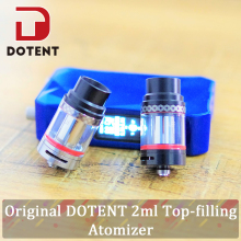 DOTENT Drum Vape Tank 2.5ml Capacity 0.5ohm Ni80 Coil 510 Thread Adjustabe Airflow Atomizer for Electronic Cigarette Vaporizer