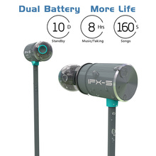 Оригинальные беспроводные Bluetooth наушники Plextone BX343, IPX5 водонепроницаемые портативные Hi Fi басовые стерео наушники, высококачественные спортивные наушники с микрофоном, гарнитура