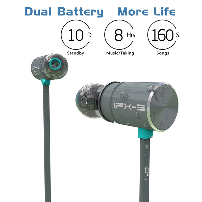 Original Plextone BX343 auricular Bluetooth inalámbrico IPX5 portátil impermeable de alta fidelidad estéreo de deporte con mic auriculares