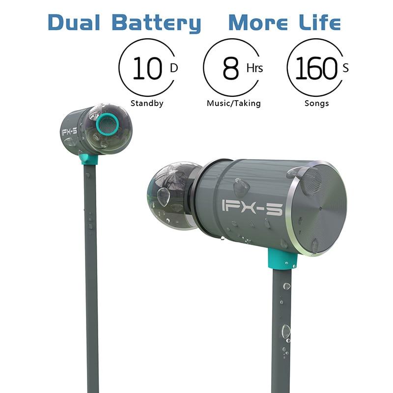Originale Plextone BX343 IPX5 impermeabile Portatile Senza Fili Bluetooth Auricolare HIFI bass stereo High-end di Sport con Auricolare microfono