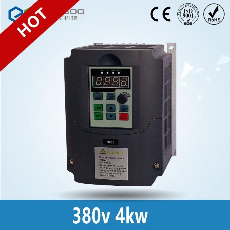 Новый 380В AC 4kw 5HP VFD привод переменной частоты VFD инвертор 3 фазы вход 3 фазы Инвертор Выходной частоты мотор шпинделя