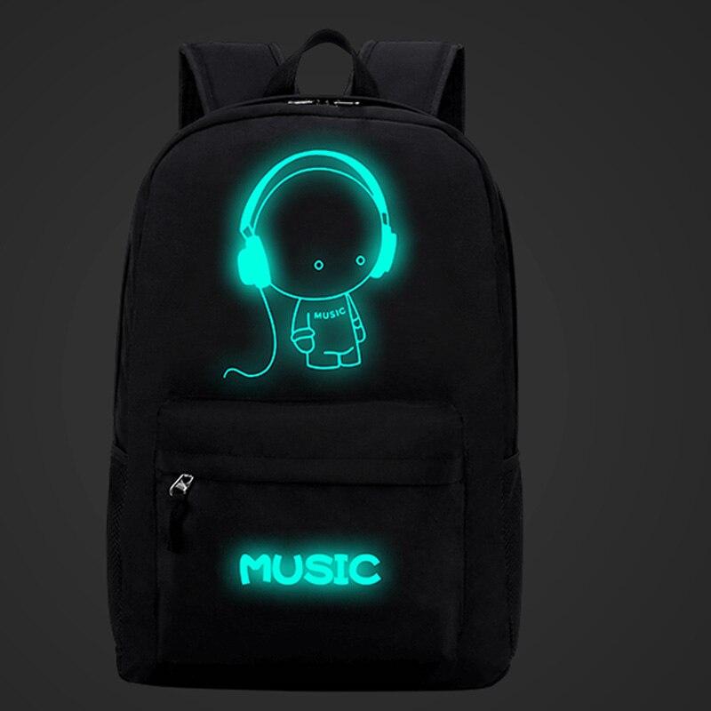Harajuku Style Backpack Night light cool backpack Canvas Backpacks School Bags For Teenager Girls boys Book Bag Rucksack XA959B
