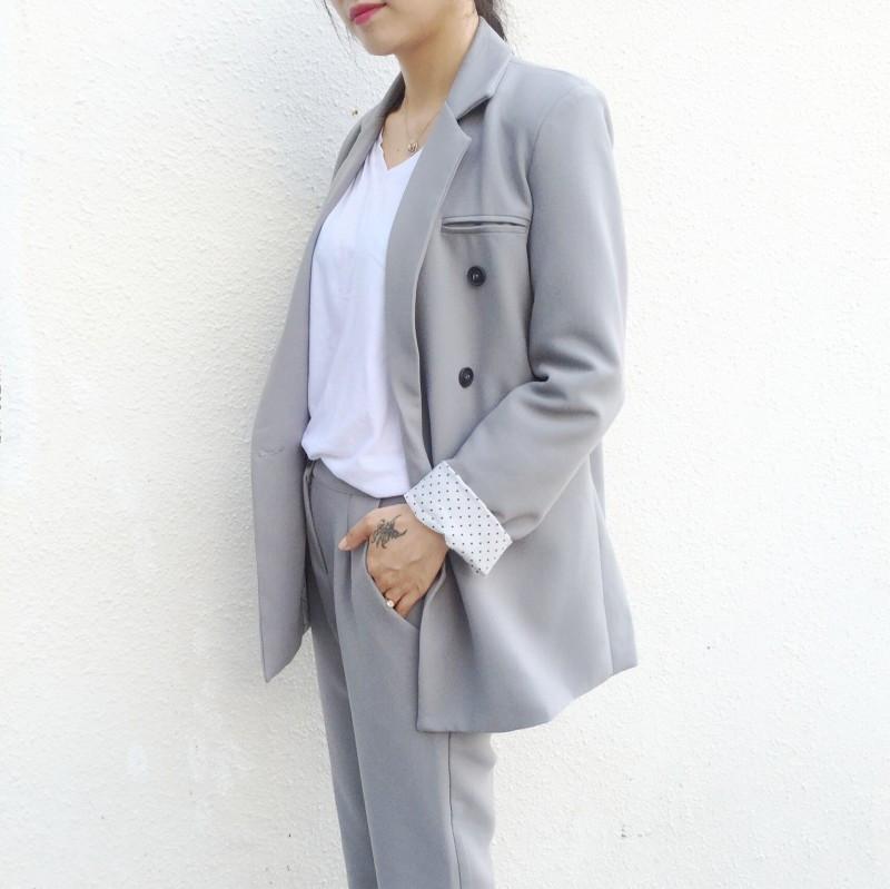 2015-Autumn-Women-s-Fashion-Suit-set-Nine-Points-Straight-Suit-Pants-FASHION-SET