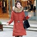 NXH Снег носить ватные куртки женщины 2017 осенью и зимой куртка женщин тонкий Длинный фугу пальто Хлопка верхняя одежда зимнее пальто женщины