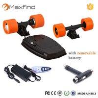 Maxfind Электрический скейтборд diy 83 мм бесщеточный мотор hub и pu колеса и грузовых автомобилей и аккумулятор скейтборд двойной Двигатель диск DIY