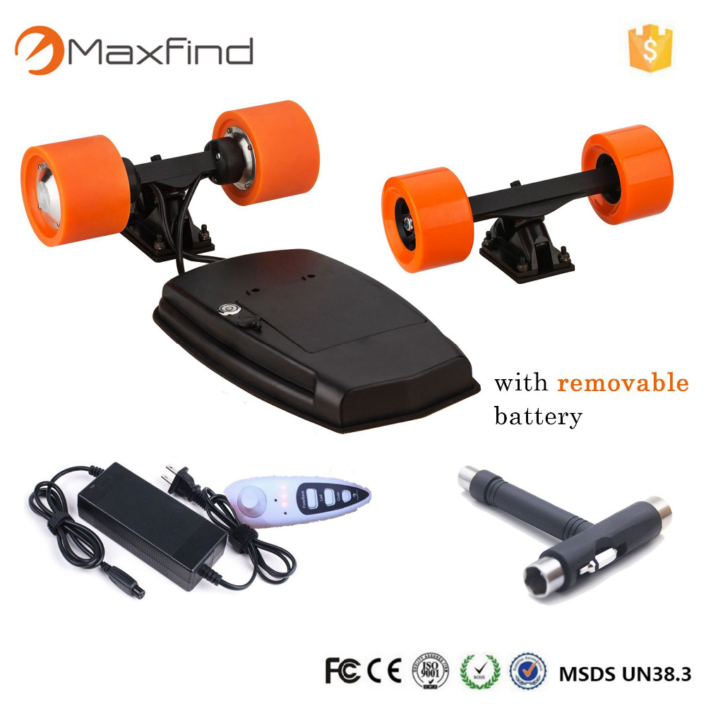 Maxfind electric skateboard diy mm brushless hub motor and pu wheels and
