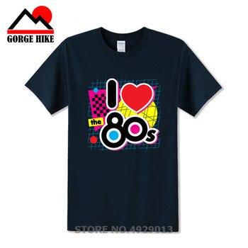 Regalo de Cumpleaños I Love The 80 S, camiseta para hombre, traje romántico, disfraz de moda, camiseta para hombre, envío gratis, camiseta para pareja