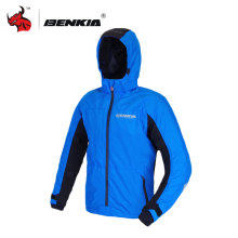 BENKIA HDF-JS24 Motorcycle Wind-coat Spring Summer Windbreaker Removable Hood