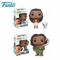 Original FUNKO POP Disney Marine wonders Moana Half fairy Maui Action Figure Model dolls genuine toys