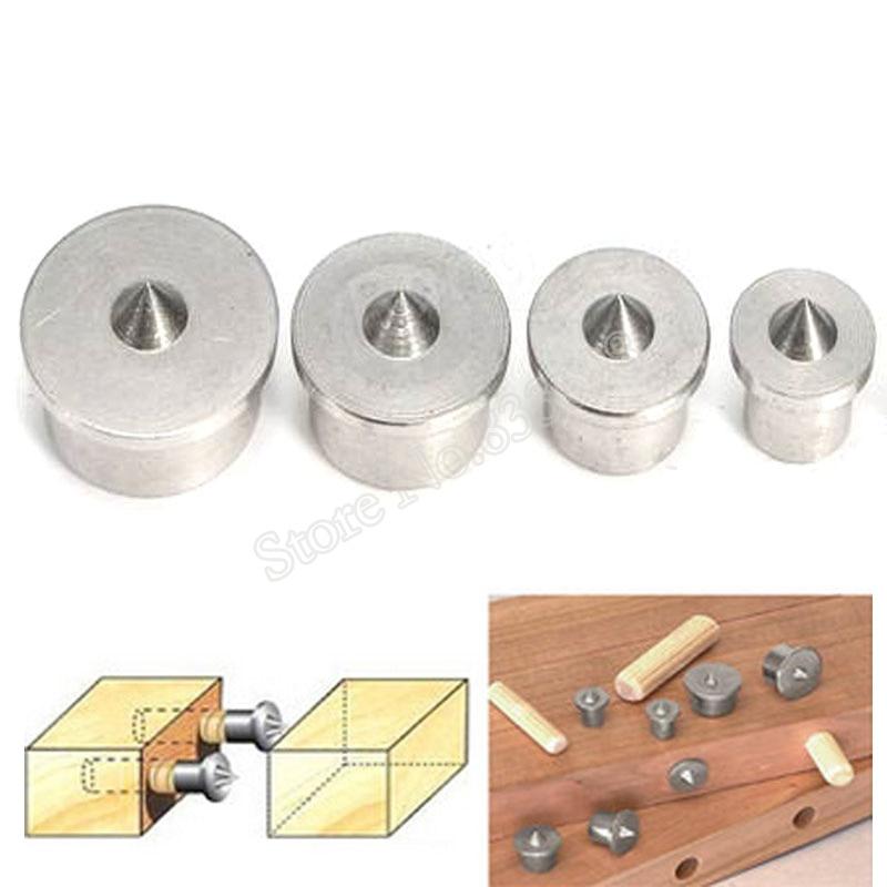 4Pcs//set Dowel Drill Centre Points Pin Wood 6-12mm Dowel Tenon Center Tool Kit