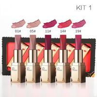 Pudaier Brand NEW Quality Matte Lip stick 5pcs Set makeup Lasting Waterproof Sexy Matte Lipstick rouge lip Kit