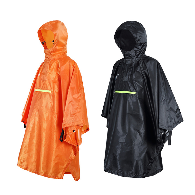Waterproof Rain Poncho Cycling Bicycle Raincoat Reflective Strip Rainwearc