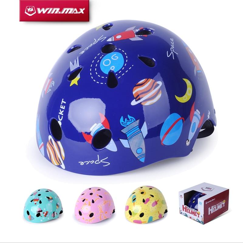 Цена за 2017 Winmax Велоспорт Скейт Скейтборд Capacete Ciclism Регулируемая Велосипед Скейт Защита Chrildren ABS Шлем для Детей