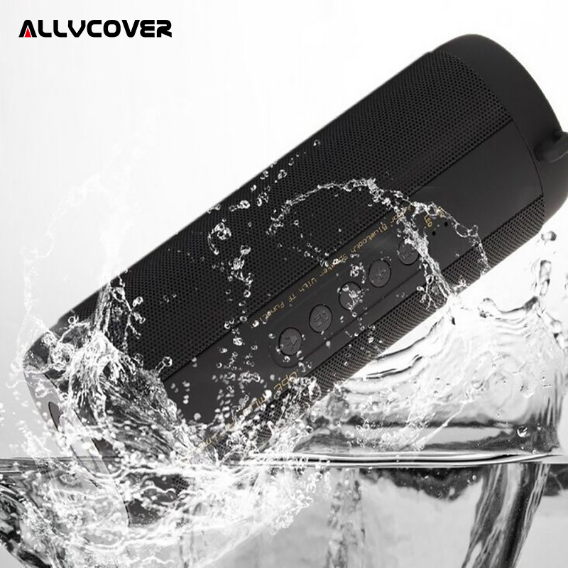Allvcover Outdoor Waterproof Super Bass Bluetooth Speaker Mini Column Portable Wireless Loud Speakers for iPhone X Samsung S8 S9 getihu portable mini bluetooth speakers wireless hands free led speaker tf usb fm sound music for iphone x samsung mobile phone