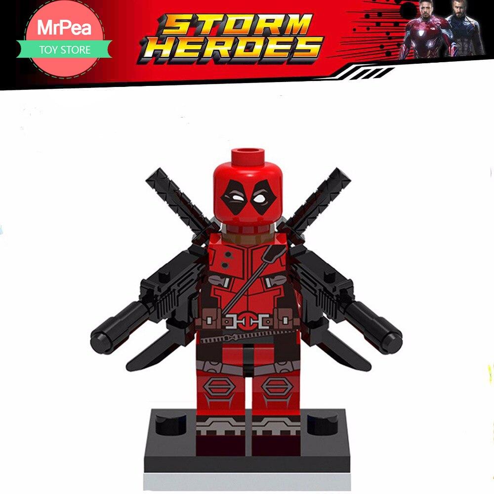 Decool супергерой поштучная продажа вооруженный Дэдпул строительные блоки кирпичи игрушки для детей EDC техника подходит для legoings для цифры