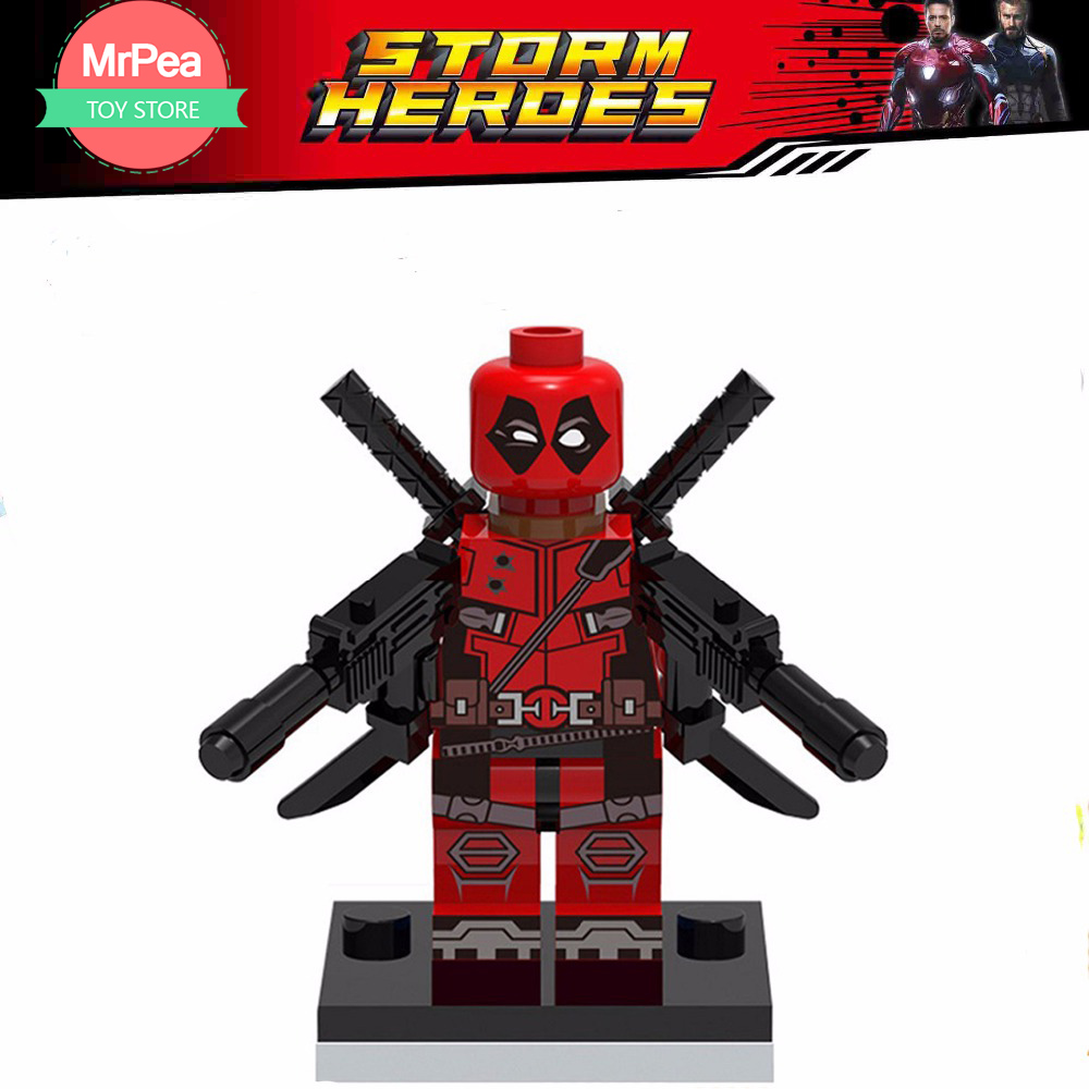 Decool Single Sale superhero Armed Deadpool building blocks bricks toys for children EDC technic FIT for legoings for figuresDecool Single Sale superhero Armed Deadpool building blocks bricks toys for children EDC technic FIT for legoings for figures