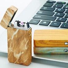 Neueste USB Arc Leichter Metall USB Aufladbare Winddicht Kein Gas Rauchlose Flammenlose Elektrische Zigarettenanzünder Perfekte Geschenk