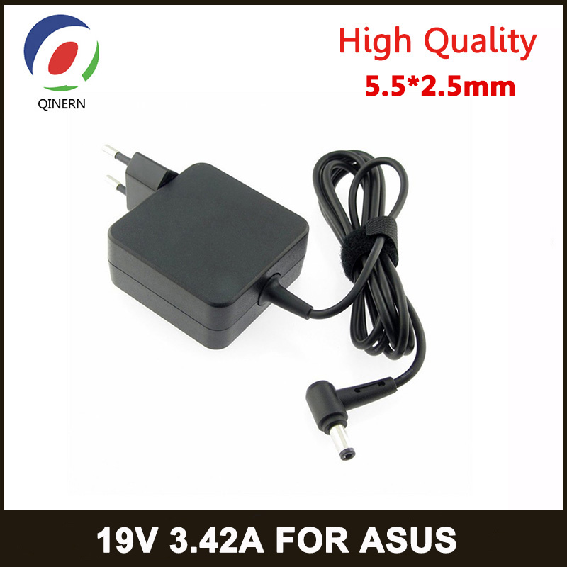 QINERN EU 19V 3.42A 65W 5.5X2.5mm AC Charger Laptop adapter ADP-65DW For ASUS x450 X550C x550v w519L Power Supply Portable