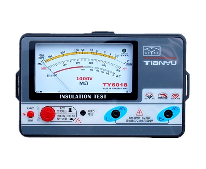 TY6018 1000V insulation resistance meter,analog INSULATION TESTER, 0.5-2000M