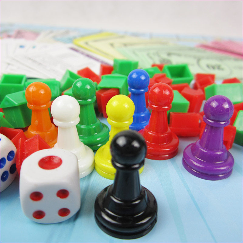 16 Pieces Plastic Board Game Chess 25mm Pawn for Board Card Accessories