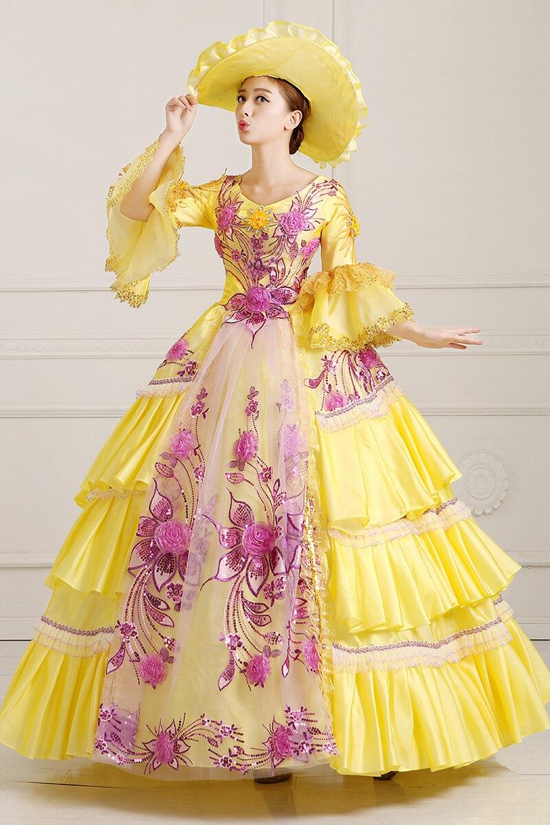 9c2f2ad64e3 Хэллоуин костюмы для женщин edwardian платья средневековый костюм принцессы  взрослых королева викторианской костюмы 3XL mittelalter Kleid DA