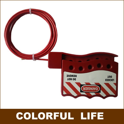 цена на Universal,Adjustable Cable Safety Lock , gate valve Lock/ Diameter (3mm) Insulated cable,Industrial safety locks
