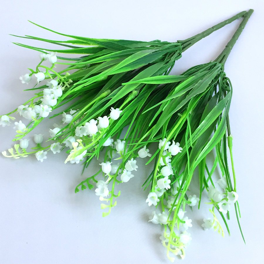 Artificial plastic lily of the valley flowers home table office artificial plastic lily of the valley flowers home table office wedding flower party decoration in artificial dried flowers from home garden on izmirmasajfo