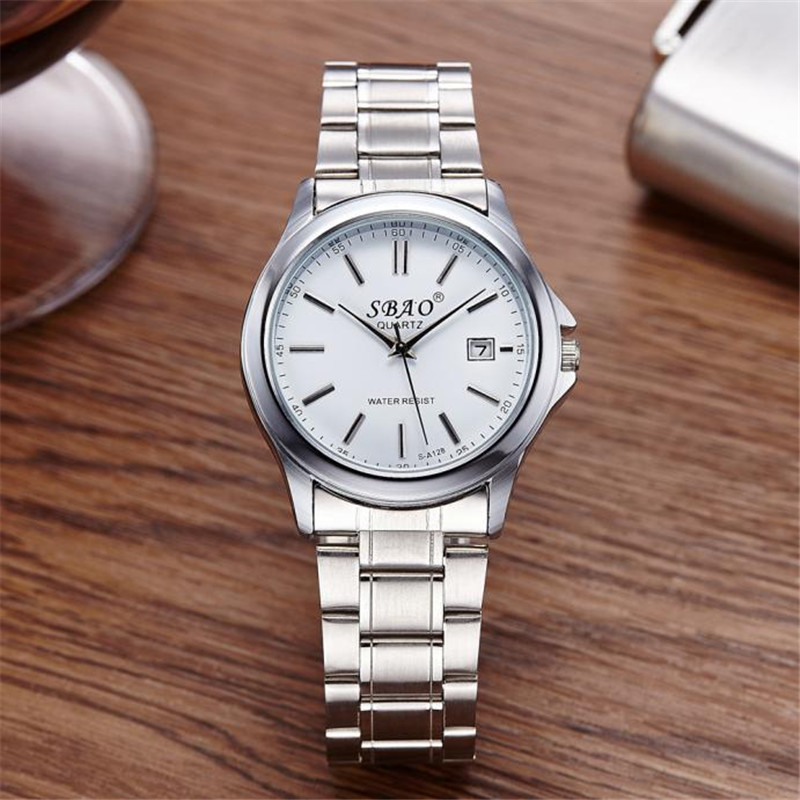 New Design Fashion Hot Fashion Mens Luxury Date Stainless Steel Band Quartz Sport Analog Wrist Watch men wholesale 2017 new arrival hot fashion men stainless steel band analog quartz movement wrist watch 5 2