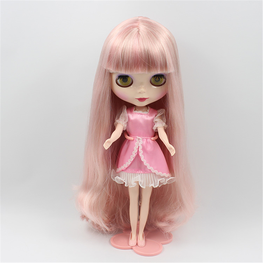 Toys & Hobbies Factory Blyth Doll Nude Doll 230bl05191010 Long Straight Hair With/no Bangs Mixed Color Pink & Pale Gold Ample Supply And Prompt Delivery
