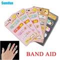 50 pçs/lote Família Dos Desenhos Animados Band-aid de Gesso Estéril Adesivo Kit de Primeiros Socorros Médicos Hemostase Curativo Adesivo C653