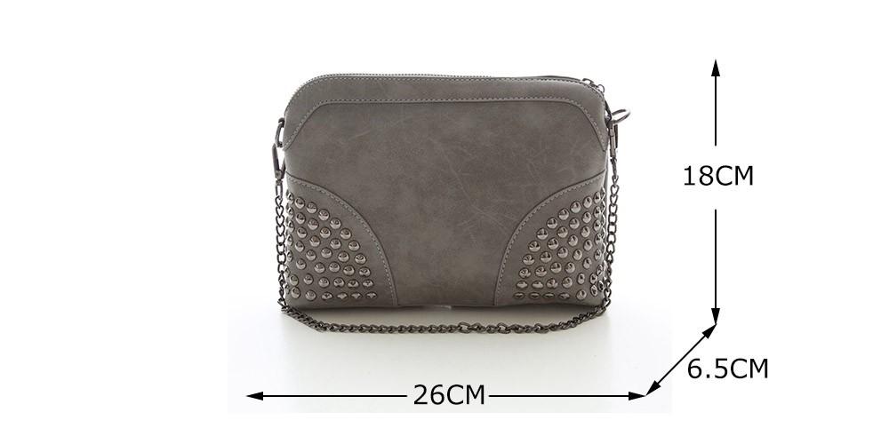 Rivet Shoulder Women Bag Vintage Scrub Shell Messenger Bags Chain Strap Crossbody Bag Clutch Bolsa Feminina Herald Fashion Brand
