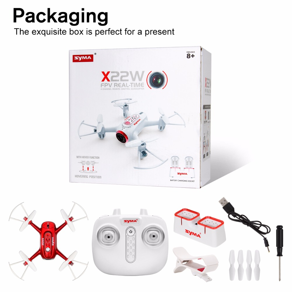 X22W Drones With Camera FPV Wifi Real Time 2 4GH 4CH Headless Mode Hover Function RC