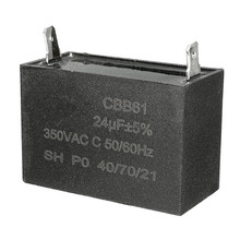 2017 New Arrival 24uF Generator Capacitor 24uF CBB61 24 uF 50 or 60 Hz 350V AC UP TO AC 450V Good Safety Performance
