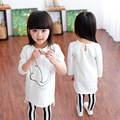 2016 new summer spring autumn children clothing child clothes set baby girl kids t shirt pants and sets 15234