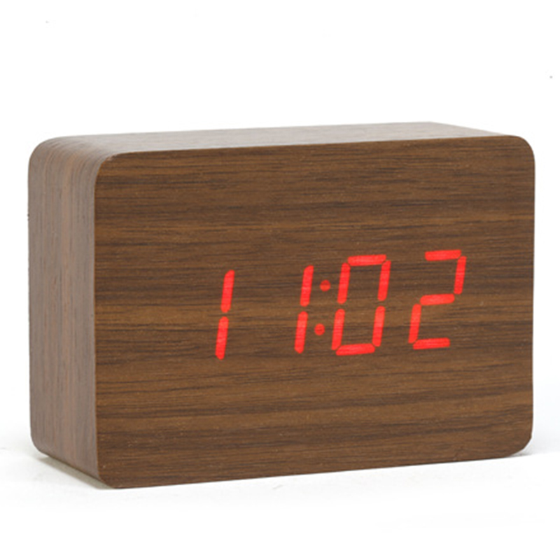 Wood Led Small Table Clock Electronic Desk Clock Digital Clock Wood Desktop Alarm Clock Desk Clock Digital Alarm Clockclock Digital Aliexpress